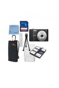 Sony CyberShot W800 20.1MP Camera with 16GB Memory Card, Case & 6 piece Deluxe Starter Kit