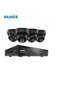 Sannce 4 Camera Dome 8 Channel 1080N 5-in-1 DVR 1TB Security System