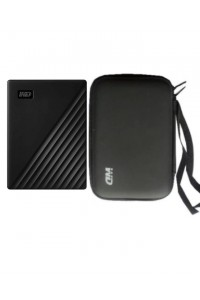 Western Digital My Passport 1TB External Hard Drive & Pouch